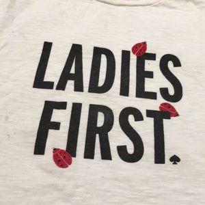 Kate Spade ♠️ ladies first ladybug 🐞 tee